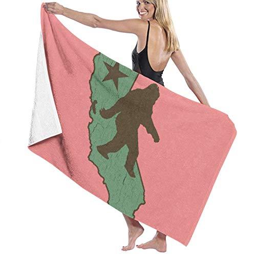 California Bigfoot Toalla de baño de secado rápido, suave, toalla de ducha de playa, 130 x 80 cm