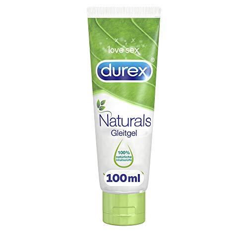 Durex Naturals Gleitgel auf Wasserbasis – Gleitgel aus 100% natürlichen Inhaltsstoffen und mit Intim-Balance-Formel – 1 x 100 ml in der Tube