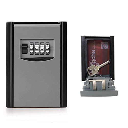 GogoTool Caja fuerte para llaves, Caja de seguridad Combinación de 4 dígitos,10000 combinaciones de diseño de contraseñas para las llaves seguridad.Es adecuada para el hogar, el garaje y la granja,ect