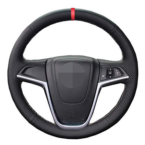 Schwarze AutoLenkradabdeckung , Für Opel Astra (J) 20102015 Ampera 20122015 Meriva (B) 20102017 Zafira Tourer...