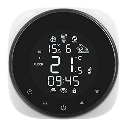 SODIAL El Partido Inteligente del Controlador de Temperatura del Termostato Wifi Funciona con Alexa y Home C