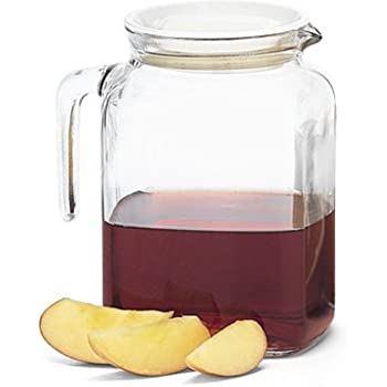 Bormioli Rocco Frigoverre Glass Pitcher with Lid, 77 3/4 Ounce