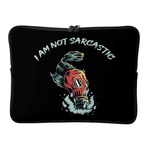 Bolsa de hombro para portátil I Am Not Sarcastic elegante para portátiles de hasta 16 pulgadas, color blanco