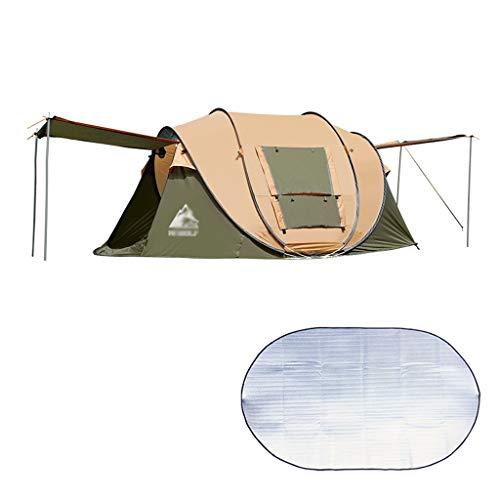 ZHANYI Tenten Camping Automatische Pop Up Waterdichte Dubbele Laag Wigwam Met Draagtas Voor Backpacking Vochtdicht pad Picnic Wandelen Vissen Outdoor Gebruik
