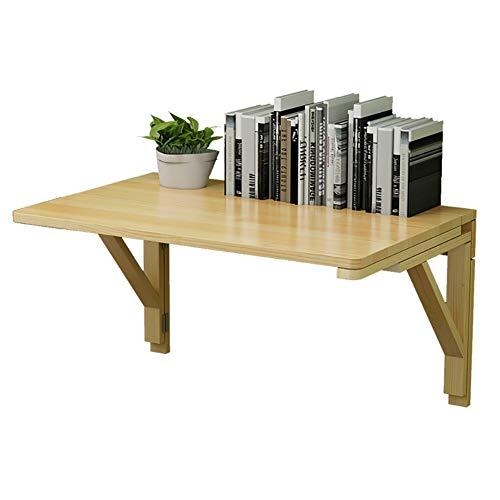 BAIJJ Wandtafel Klein aan de muur gemonteerde bladverliezende houten tafel zware houten muur opklapbare tafel dubbele laag tafel keuken en eettafel & (Maat: 80 * 60 cm)