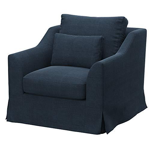 Soferia Funda de Repuesto para IKEA FARLOV sillón, Tela Elegance Grey, Verde