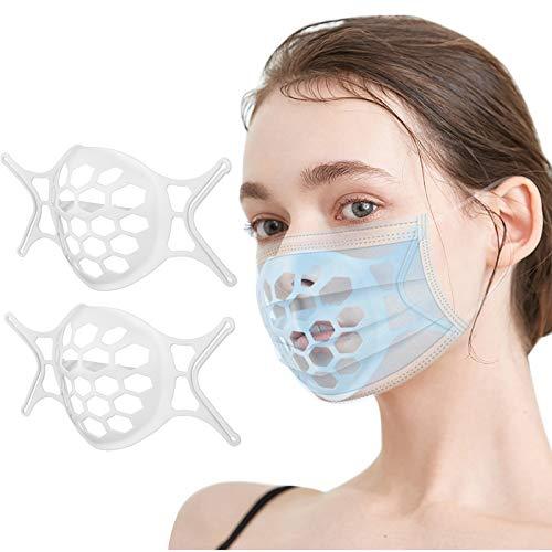 Morran 1 Piezas Soportes 3d Lavables Reutilizables Marco De Soporte De Cubierta Facial De Silicona Para Soportes Internos De Máscara, Protección De Nariz Y Boca
