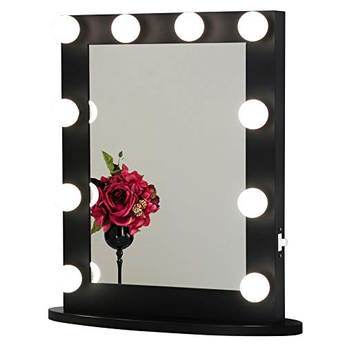 Toyswill Hollywood Style Vanity Mirror with 2 Outlets and USB Ports,Tabletop or Wall Mounted Lighted...