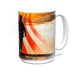The Mountain Unisex-Adult's Soldier Silhouette Coffee Mug, white, 15oz