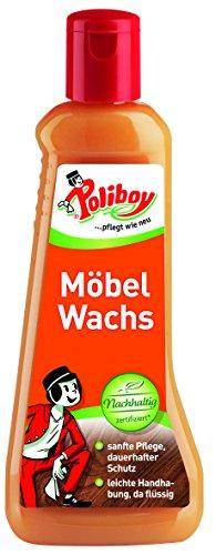Poliboy - Möbel Wachs - ideales Pflegemittel für alle unbehandelten, gelaugten und bereits gewachsten Hölzer - 200 ml - Made in Germany