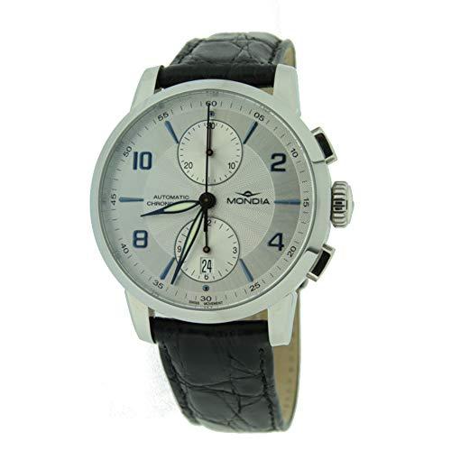 Mondia Orologio da Uomo Automatico Cronografo in Acciaio e Pelle – 1-618-2