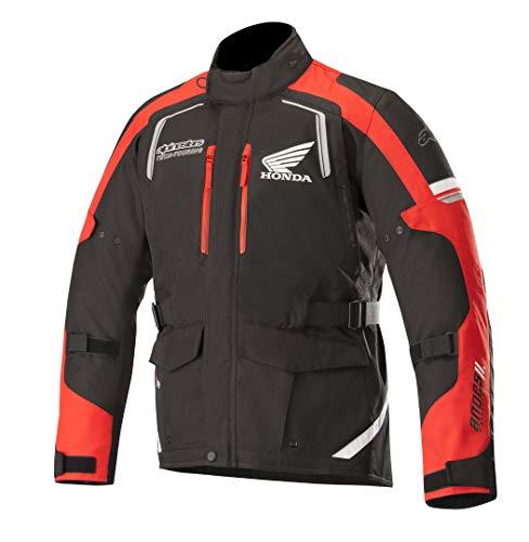 Alpinestars Honda Andes v2 Drystar - Chaqueta textil para moto, color negro y rojo