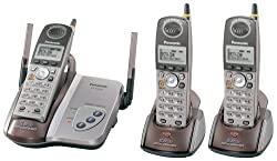 Panasonic KX-TG5423M 5 8 GHz DSS Cordless Phone with Three Handsets