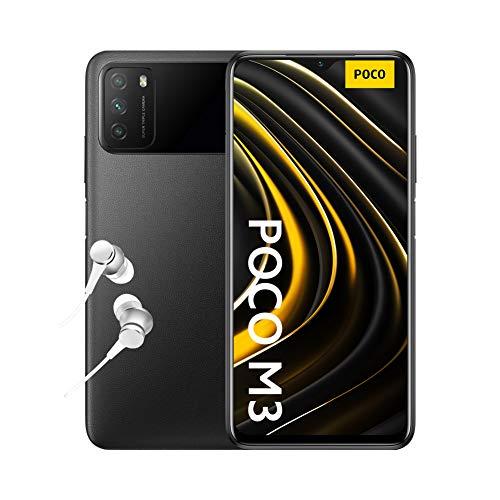 Poco M3 - Smartphone 4+128GB, Écran DotDrop FHD+ de 6,53', Processeur Snapdragon 662, Triple caméra 48MP avec IA, Batterie 6000 mAh, Noir Intense (Version Officielle + 2 Ans de Garantie)
