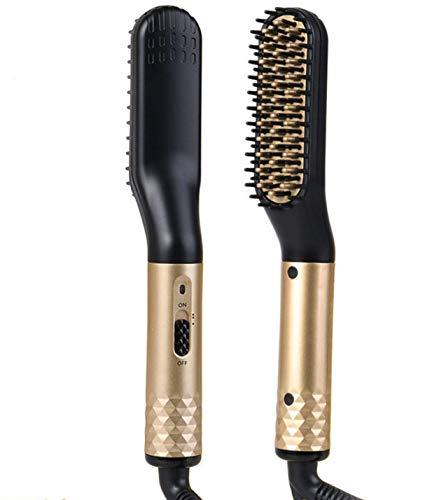 Febelle Plancha eléctrica de pelo y barba para hombres, estilizador d