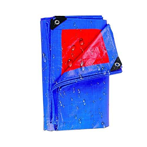 JD Bug Grote waterdichte dekzeil waterafstotend val voor picknick matten Regen matras cover stof gordijn covers zon schaduw Awning Blue parasol, 150G / M2 (Maat: 2 * 2m)