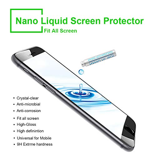 Displayschutz Flüssige Displayschutz-Beschichtung der für alle Apple Samsung Sony Huawei LG Smartphones iPhone Nano Versiegelung Schutzfolie Displayschutzfolie (Nano-Technologie) (Grün schwarz)