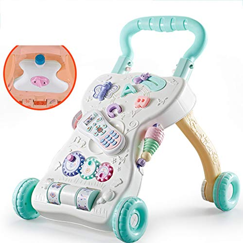 Buy Bargain MAQLKC Sit to Stand 3 in 1 Walker Ride Toddlers Learning Walker Table W/Lights Sounds Mu...