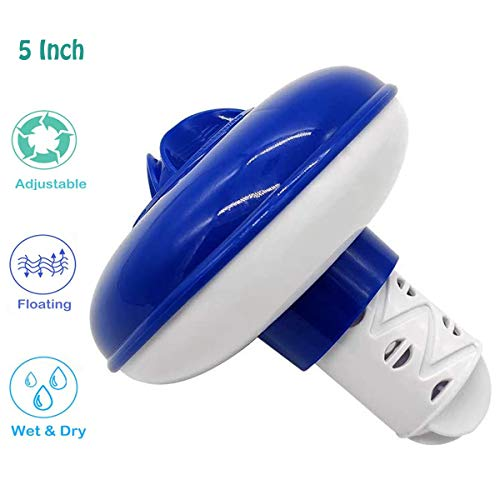 MOSOY - Dispensador de cloro flotante para piscina, flotador de tabletas de cloro para piscina, dispensador de cloro, flotador de cloro (5 pulgadas)