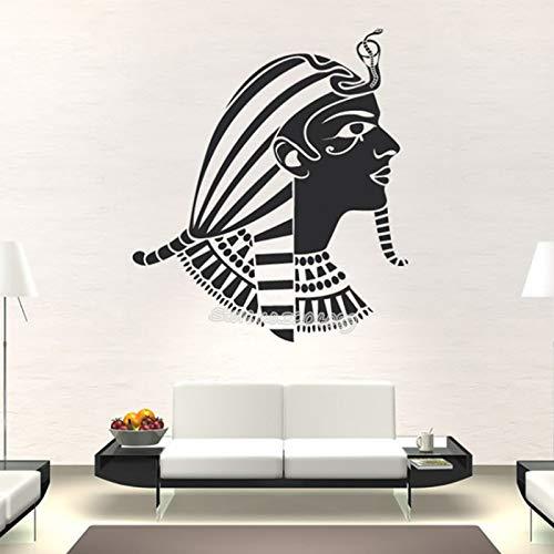 TYLPK Ägyptische Pharao Wandaufkleber Altes Ägypten Wandtattoo Vinyl Kunst Wohnkultur Vintage büro Schlafzimmer Wohnzimmer tapete 42x47 cm