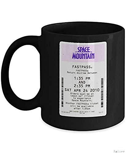 Coffee Mug 11oz-Coffee k Reusable Cups Space Mountain Cup(color changing mug) Funny Space Mountain Disneyland Ticket Gift Merchandise Accessories - Gift For Space Mountain Best Mug Gifts