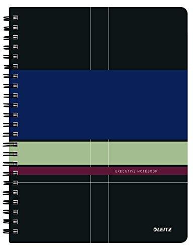 Leitz Cuaderno A4, 80 páginas, Con cuadrícula, Encuadernación Wiro con tapas de PP, Executive, Multicolor, 44610000