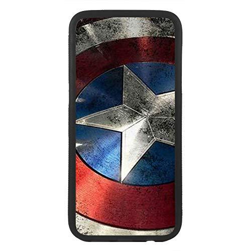 afrostore Custodia cover per Apple iPhone 5 5S scudo Capitan America TPU Bordo Nero