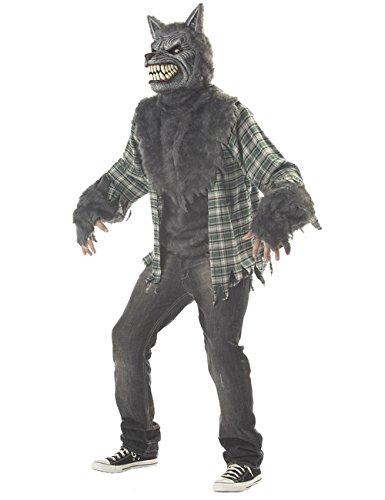 KULTFAKTOR GmbH Ani-Motion Werwolf Halloween-Kostüm grau-grün L