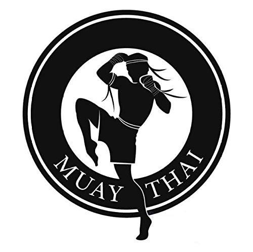 Boxing Club Muay Thai Taekwondo Karate Aufkleber Kick Play Auto Aufkleber Poster Vinyl Striker Wandtattoos Dekor 40 Cm X 44 Cm