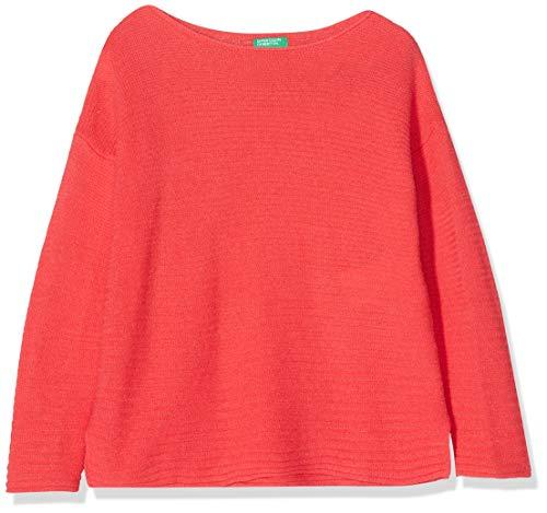 United Colors of Benetton Basic G4 Camiseta de Manga Larga, Rojo (Corallo 1l4), 170 (Talla del Fabricante: XX) para Niñas