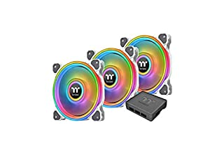 Thermaltake Riing Quad 14 RGB Radiator Fan / 3 Pack With Controller/Low Noise - PWM Case Fan / 54 LED/NeonMaker Supported - White