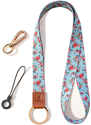 SENLLY Neck Lanyard Strap with 2 Multifunction Accessories, for Keys, Key Chain, Cell Mobile Phone, Id Badge, Card Holder etc