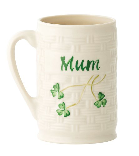 "Belleek Personalized Mug Mum, 4.5"""