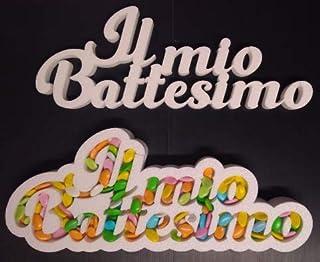 Contenitore Portaconfetti in Polistirolo Scritta IL MIO BATTESIMO cm 23 x 60