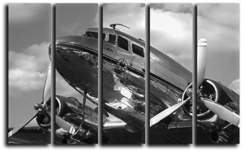 Big Set Airplane Canvas Wall Art Aircraft Canvas Wall Art Vintage Plane Wall Art Engine Propeller Wall Canvas Art Wall Home Decoration On Canvas Aviation Wall Art Print Poster Picture 55x35