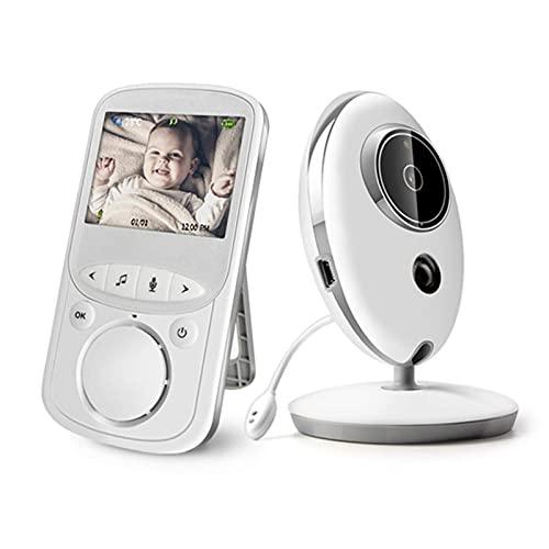 LLKK Inalámbrico LCD Video Bebé Monitores Radio Niñera Música Intercomunicador IR 24h Cámara Portátil Bebé Walkie Talkie Niñera