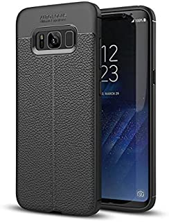 Black Phone Case for Samsung Galaxy S8 Plus, Shock Absorption Air Cushion Technology Drop Protection Phone Covers