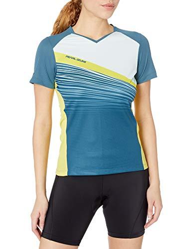 PEARL IZUMI Camiseta de Lanzamiento para Mujer, Fractura de Acero Azul/claraboyas, S