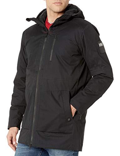 Helly-Hansen Men's Njord Parka Waterproof Windproof Breathable Insualted Warm Jacket, 990 Black, Large