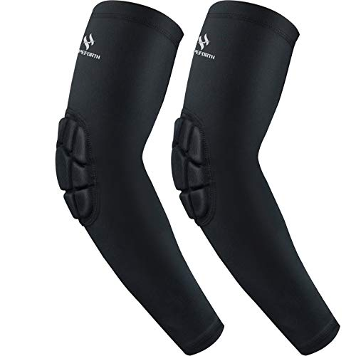 HOPEFORTH 2PCS Padded Elbow Sleeves Compression Arm Protective Support