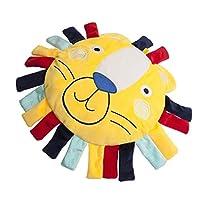 幼児用おもちゃ、耐久性のある快適なぬいぐるみガラガラおもちゃ滑らかなぬいぐるみ、赤ちゃんに適したサイズ(Lion pillow)