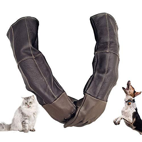 Tierhandschuhe, Kratz- / Bissfeste Handschuhe, Extra Lang, Verdicktes Rindsleder, Für Hunde, Katzen, Kratzer, Vogel, Falkenhandschuhe, Zum Greifen Von Reptilien, Eichhörnchen, Schlange