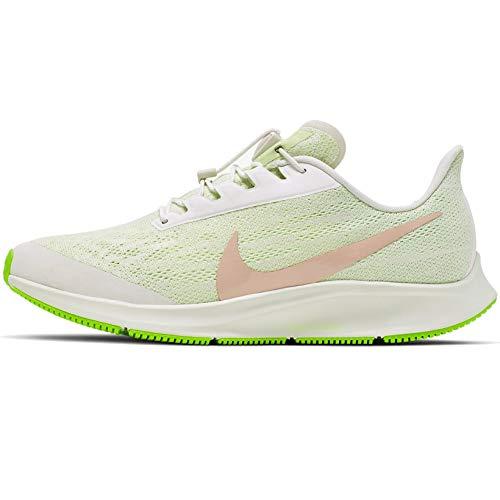 Nike W Air Zoom Pegasus 36 Flyease para mujer Bv0614-200, amarillo (Fantasma/Bio Beige/Barely Volt), 39.5 EU