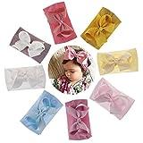 Simoda Joyfeel's Store Cintas para el pelo de Nylon para bebés Turbante Knotted Girls Hairband Super suave y elástica Wrap para recién nacidos Toddle para niños (Pack of 8#2)