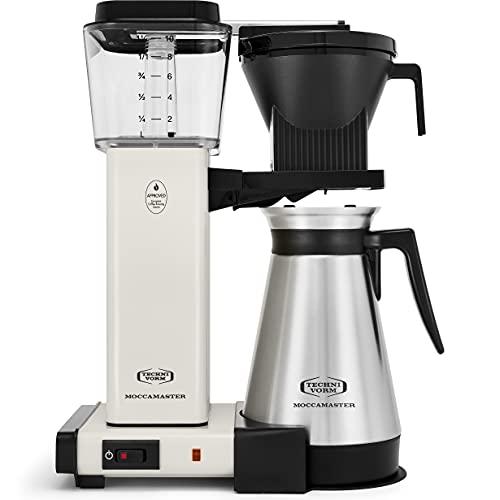 Technivorm Moccamaster 79318 KBGT, 10-Cup Coffee Maker, 40 oz, Off-White