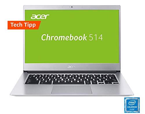 Acer Chromebook 514 Notebook (14 Zoll Full-HD IPS matt, Aluminium Unibody, 17mm flach, extrem lange Akkulaufzeit, schnelles WLAN, beleuchtete Tastatur, MicroSD Slot, Google Chrome OS) Silber