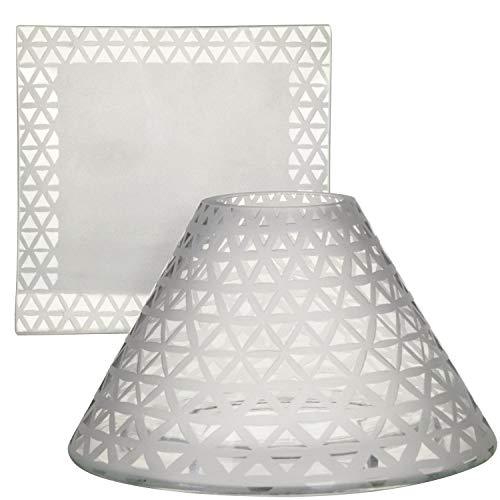 Yankee Candle Set di accessori in vetro, argento, 20 cm