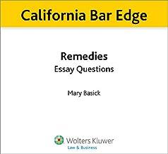 California Bar Edge: California Remedies Essay Questions for the Bar Exam
