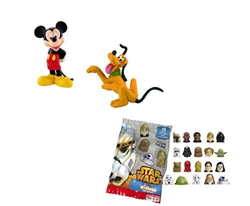 LOTE 2 FIGURAS Bullyland Mickey y Pluto - Mickey - Pluto + REGALO