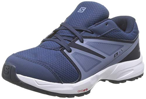 Salomon Sense CSWP Zapatillas Impermeables de Trail Running Senderismo Unisex Niños, Azul (Sargasso Sea Navy Blazer Flint Stone), 35 EU
